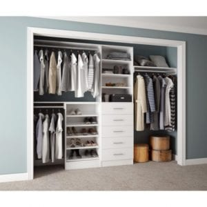 Exquisite Home Decorators Collection Assembled Reach-In 15 In. D X 120 In. W X | Reach In Closet System